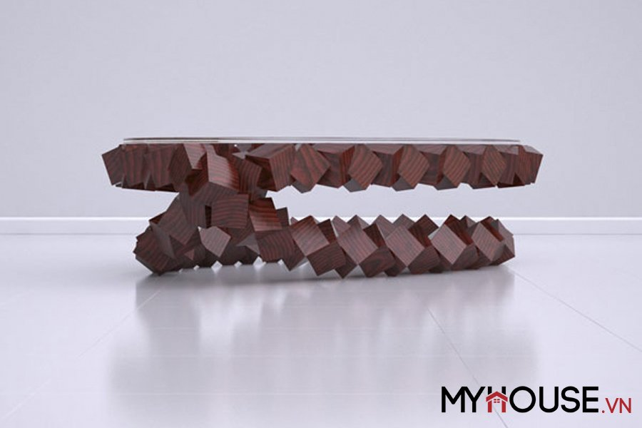 bàn độc đáo với hình thức cấu trúc bền vững bỏ qua yếu tố trọng lực