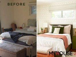 cải tạo phòng ngủ bằng giấy dán tường cao cấp