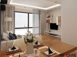 Bạn có thể trang trí căn hộ đẹp bằng các phụ kiện, hoa tươi, hoa khô cho không gian luôn sống động