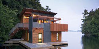 Nhà vườn đẹp Boathouse – Christopher Simmonds là nơi riêng tư nghỉ ngơi của một cư dân nơi đô thị muốn tìm một không gian thư giãn