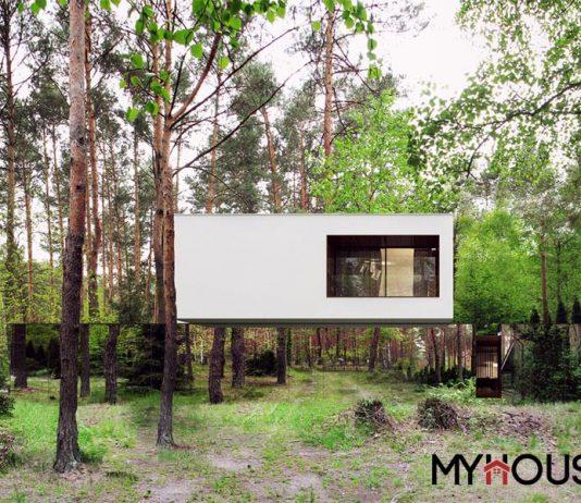 nhà vườn độc đáo và gương phản chiếu- chất liệu thường được sử dụng cho không gian nhỏ. Để tạo cảm giác thoáng rộng cho người sử dụng, lại được sử dụng trong không gian bao la của núi rừng rợp bóng.