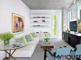 tối ưu không gian nhỏ bằng cách sắp xếp đồ đạc gọn sát mép tường
